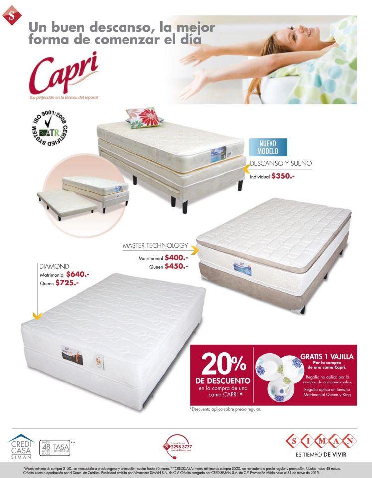 Comiena tu dia bien descansado con CAMAS CAPRI - 22may15