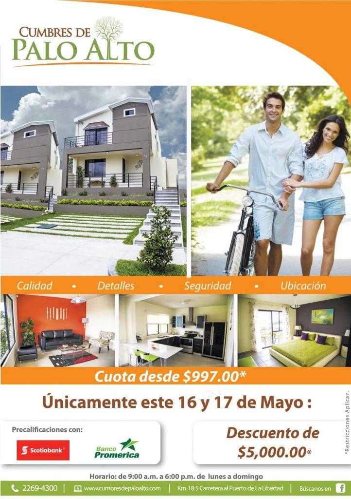 Comprar casa en elsalvador CUMBRES DE PALO ALTO