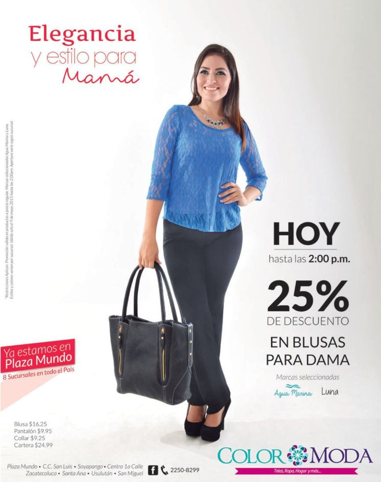 Elegancia y estilo para mama DESCUETOS color moda - 09may15
