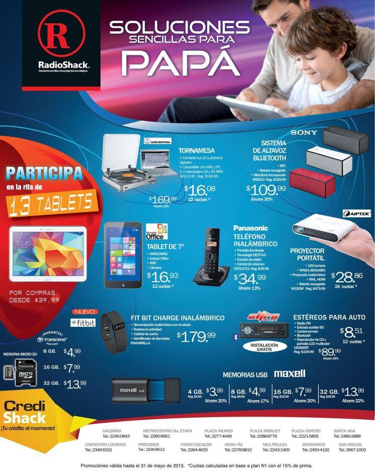 Soluciones GEEK para PAPA con articulos RadioShack elsalvador - 29may15