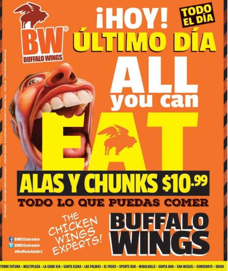 ULTIMO all you can eat gracias a la salitas bufalo