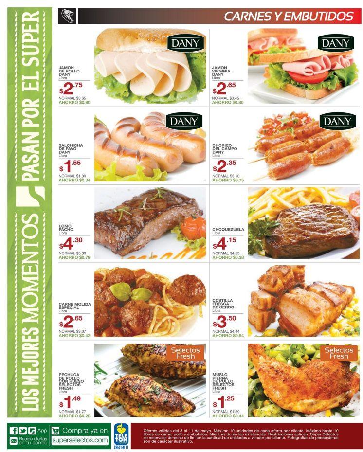 super selectos ofertas de hoy en carnes y embutidos - 08may15