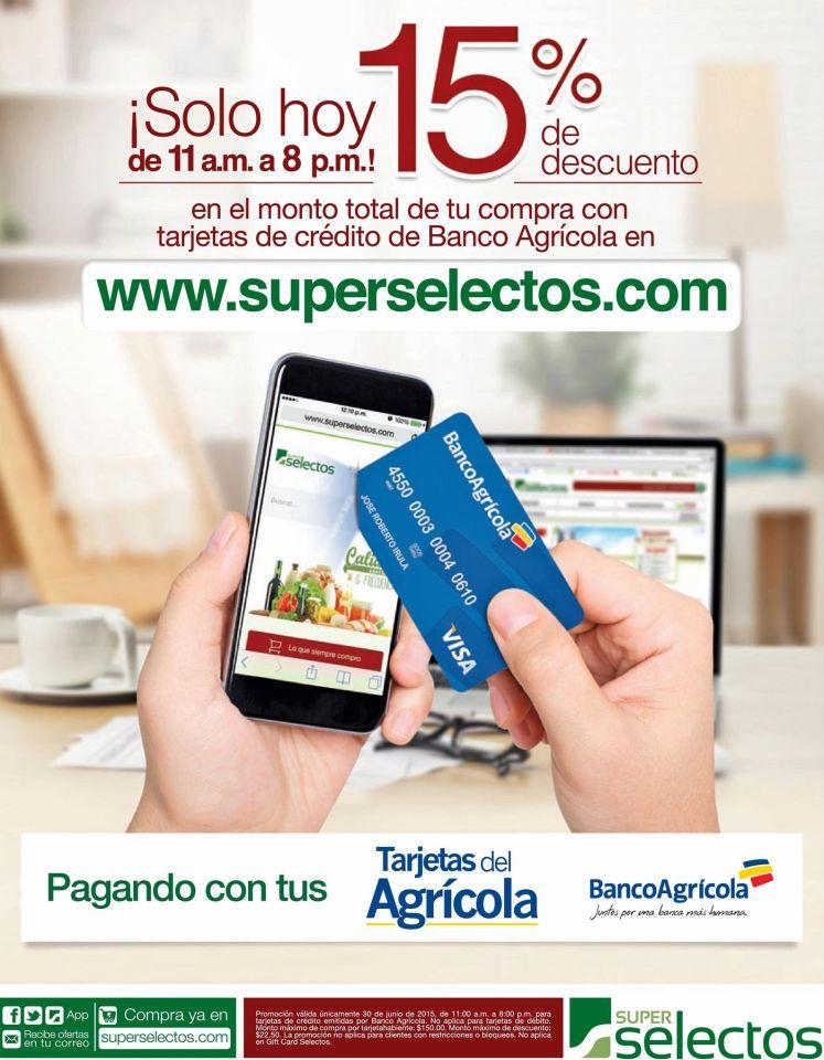Ahora compras online SUPER SELECTOS 15 OFF - 30jun15