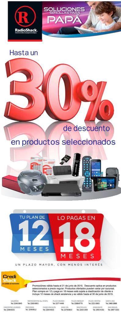 Hasta 30 OFF en productos seleccionados RADIOSHACK elsalvador - 16jun15