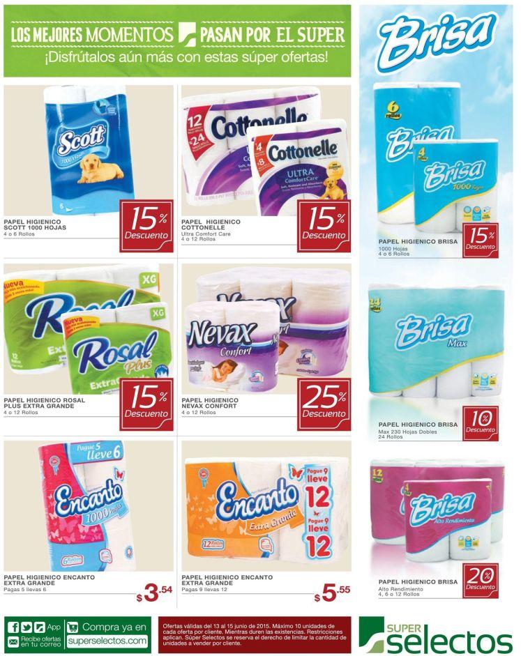 Para tu servicio sanitario DESCUENTOS el papel higienico - 13jun15