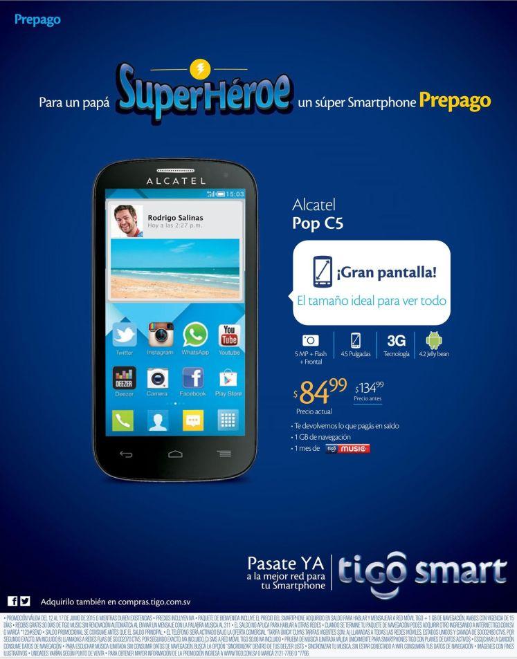 Para un PAPA super hero smartphone ALCATEL POP en oferta by TIGO