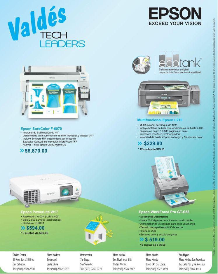 Tecnologia EPSON de imprsion digital y laser