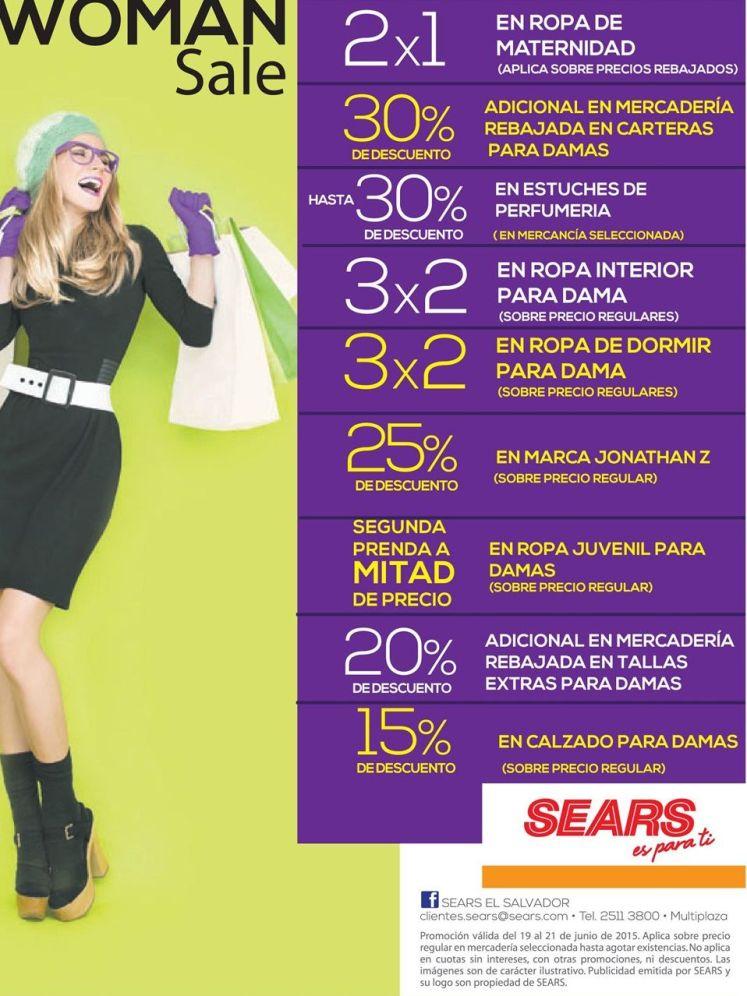 WOMEN SALE promociones para ella en SEARS- 20jun15