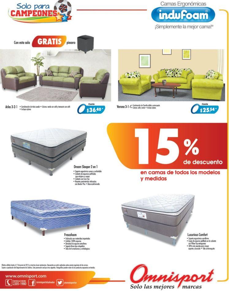 calidad de muebles y camas INDUFOAM con super descuentos - 13jun15