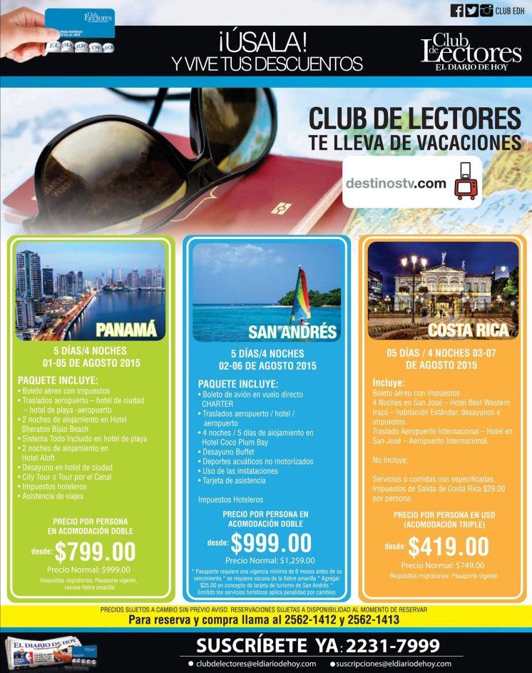 DestinosTV.vom promociones en paquetes de vacaciones PANAMA san andres COSTA RICA