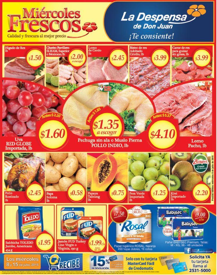 Hoja de ofertas de la despensa ahora miercoles - 07jul15