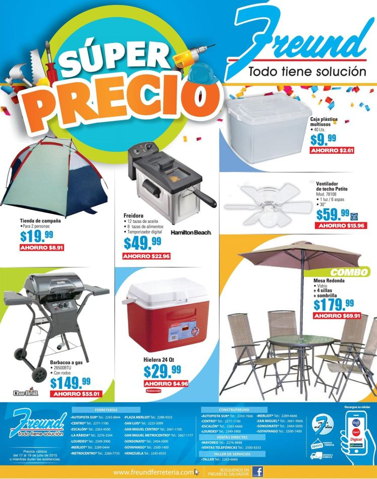 Super precio en articulos para ir de camping or vacations - 17jul15