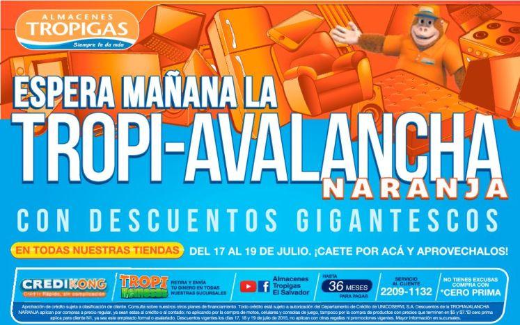 Tomorrow VIERNES se vienen los descuentos naraja de ALMACENES TROPIGAS - 16jul15