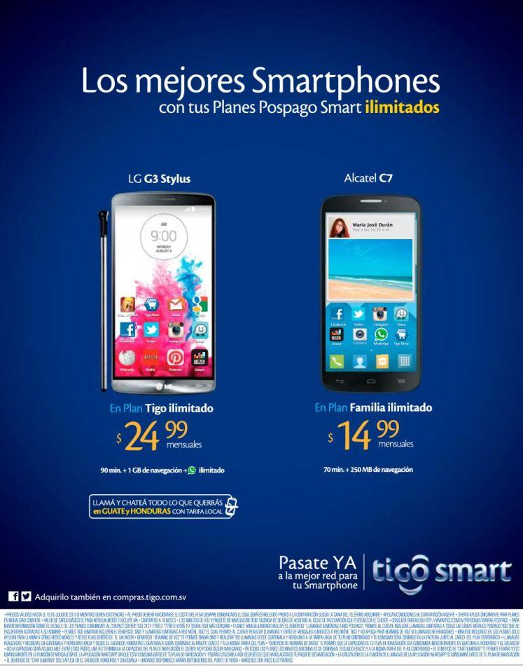 Tu linea TIGO ilimitada desde 14.99 de dolar escoge tu smartphone