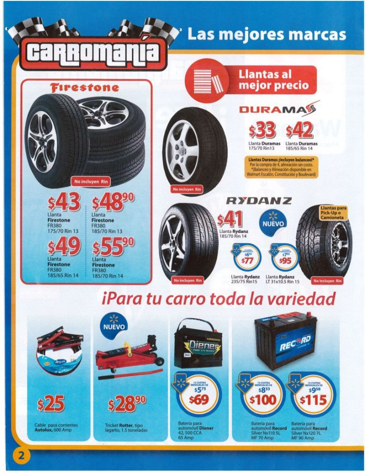 promociones WALMART folleto CARROMANIA 2015