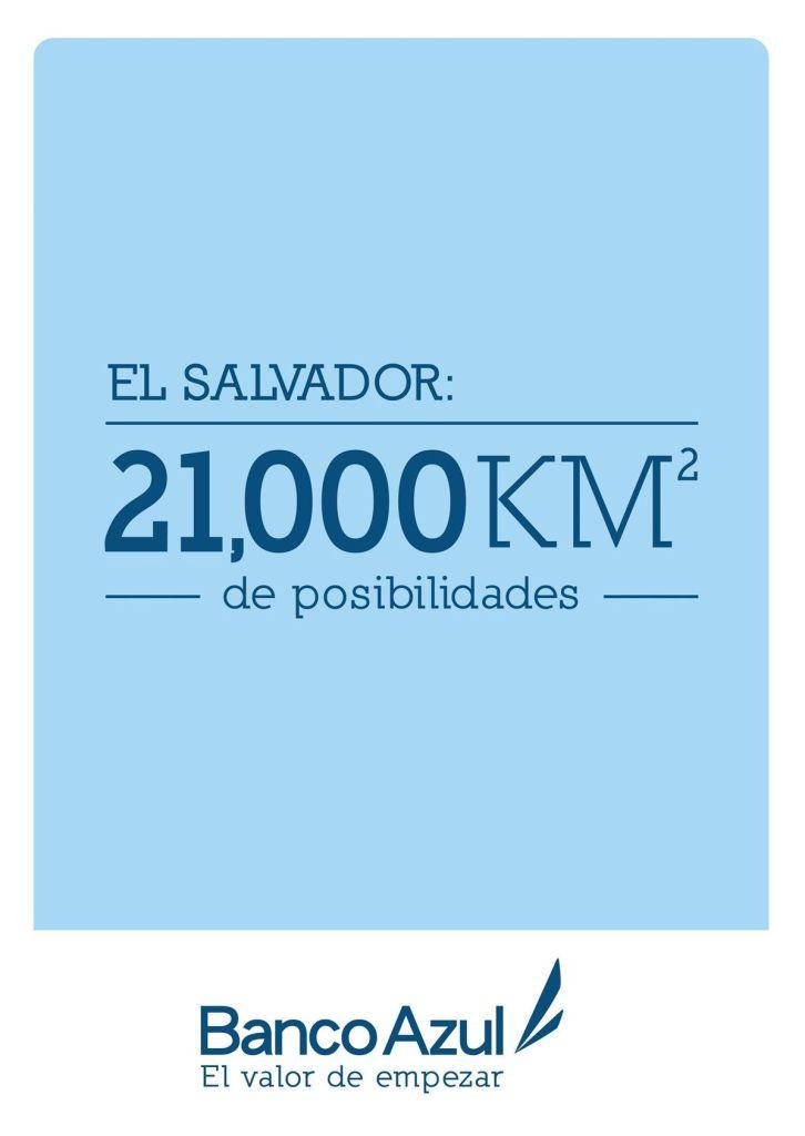 Banco Azul el salvador 21 km de posibilidades