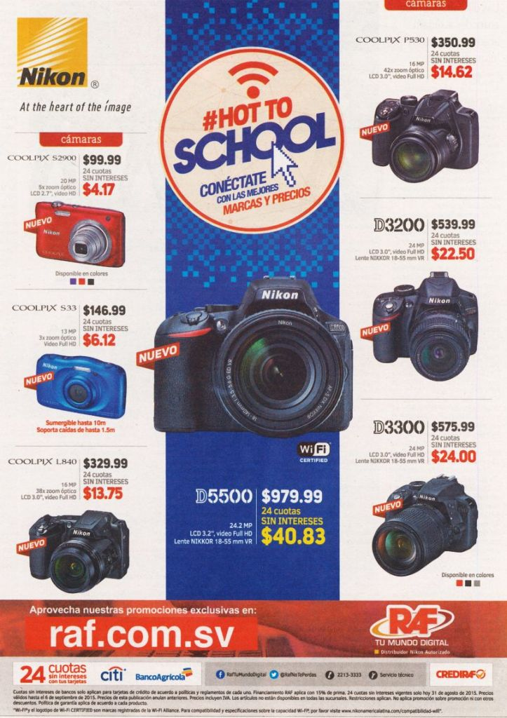 RAF NIKON camera deals HOT promotions and offer - 31ago15