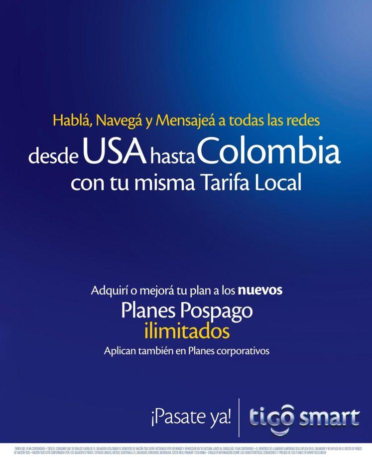 TIGO nacion habla mensajea navega con tu misma tarifa local desde USA a Colombia