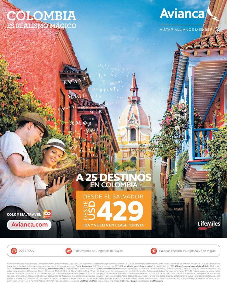 Conoce los 25 destino de vacaciones en COLOMBIA