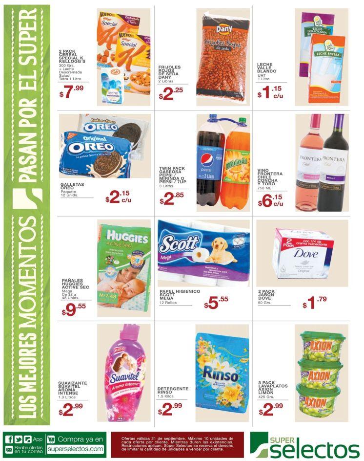 LUNES ofertas de hoy en super selectos - 21sep15