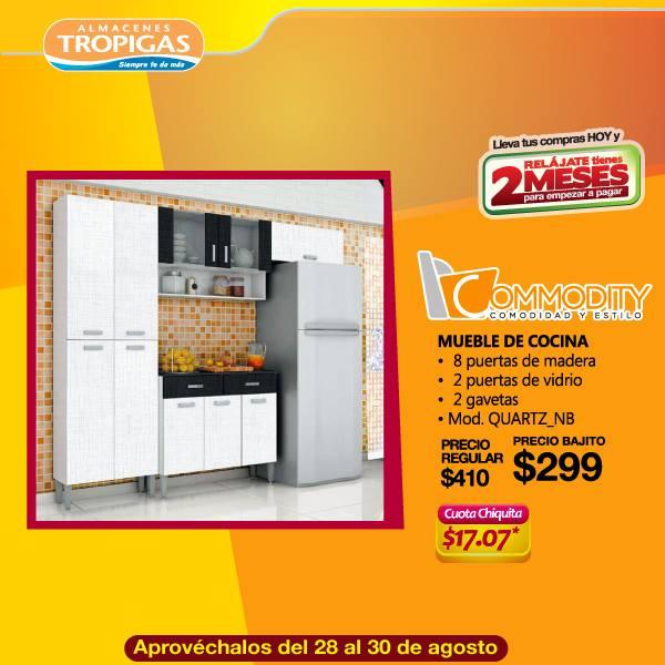 Muebles para cocina COMMODITY en 299 dolares buscalo en TROPIGAS almacenes