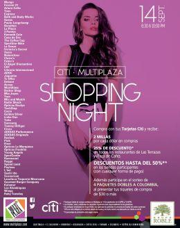 SHOPPING NIGHT september MULTIPLAZA con tu credit card CITI bank