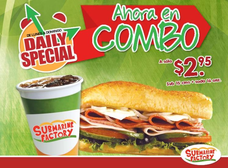 DAILY special combo sandwich mas gaseosa