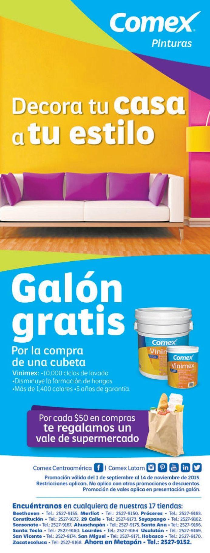 Decora tu casa a tu estilo con promociones comex pinturas for Decora tu casa tu mismo