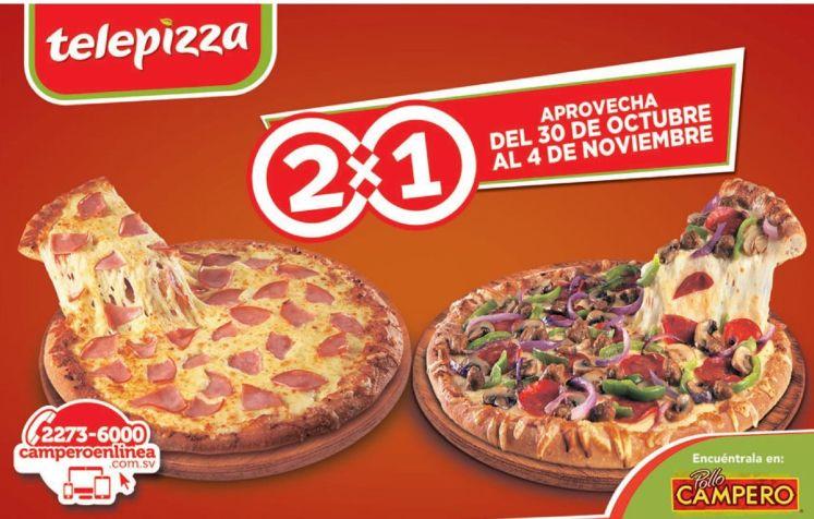 Este fin de comamos pizza al 2x1