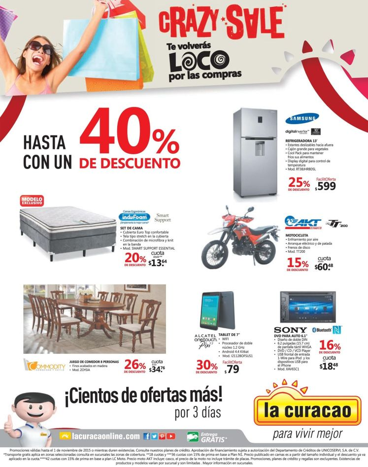 LA CURACAO CRAZY SALE Locura de precios y descuentos - 30oct15