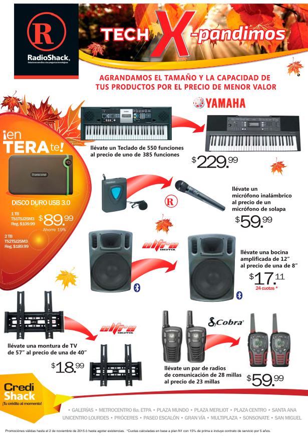 RADIOshack Tech expand promotions MUSIC communications and more