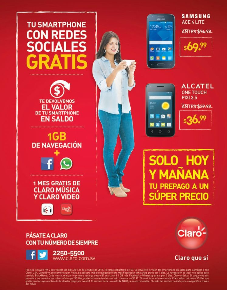 SOCIAL networking FREE smartphones CLARO
