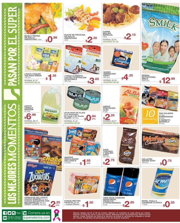 Supermercado con productos de primera necesidad familiar