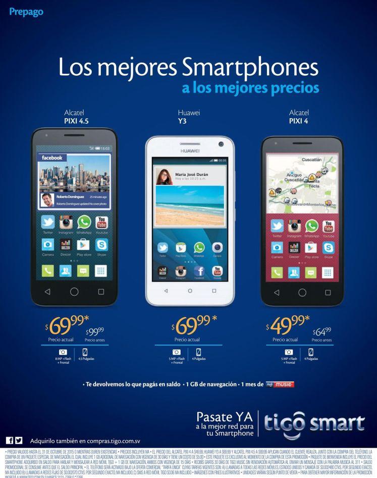 Un celular que todos buscan ALCATEL PIXI en oferta via TIGO smart