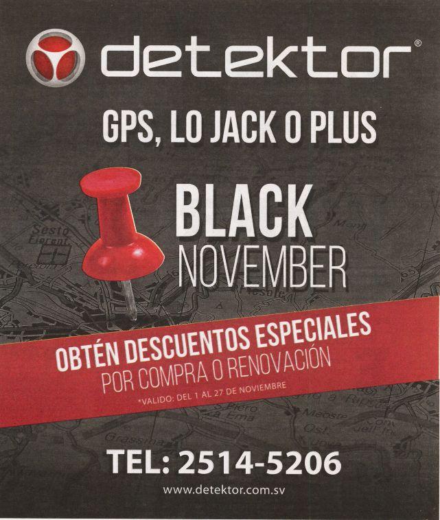 Detektor BLACK NOVEMBER 2015 promociones y descuentos en GPS box LO jack o PLUS