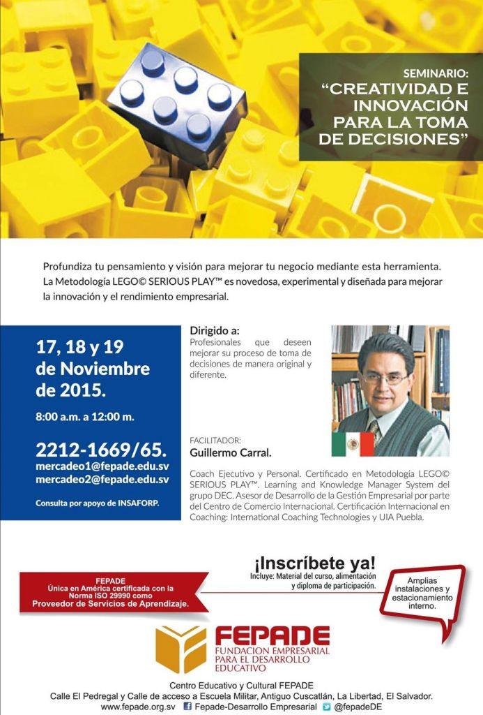 Metodologia LEGO SERIUOS PLAY seminario creatividad e innovacion