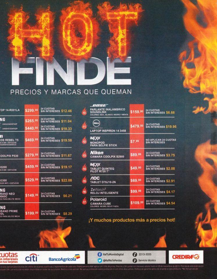Tiendas RAF presenta su HOT FINDE 2015 precios ardientes