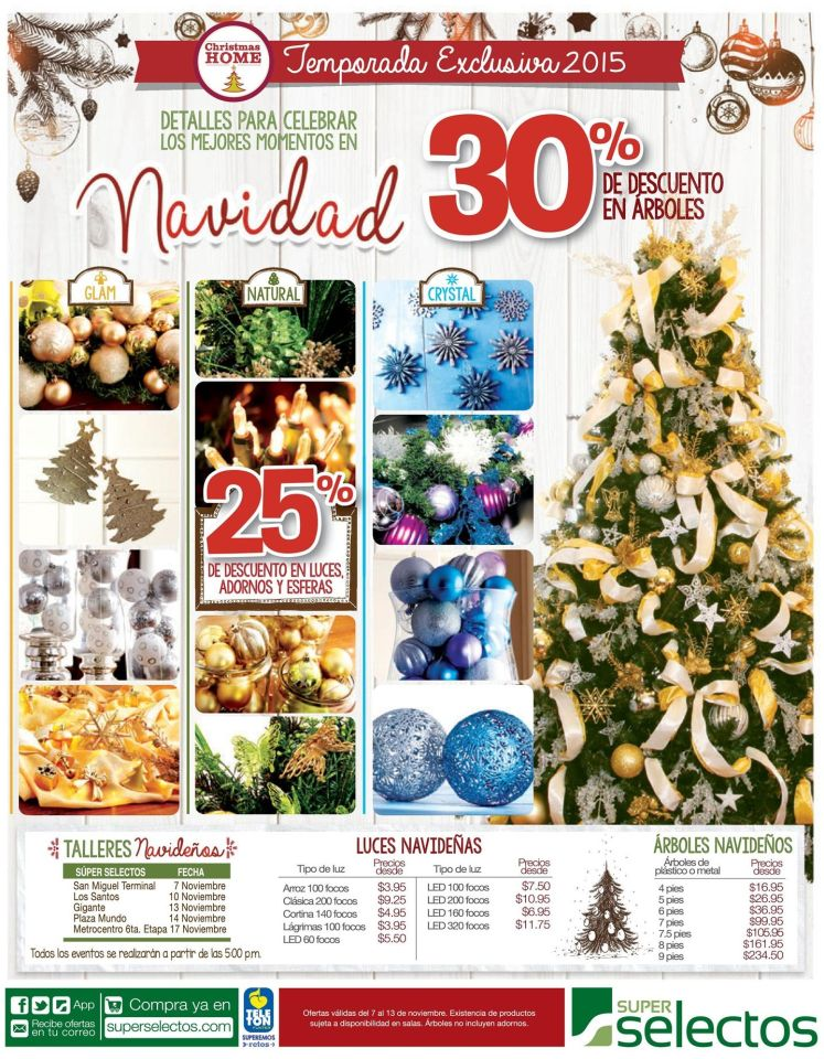 temporada exclusiva 2015 decoracion de navidad super selectos