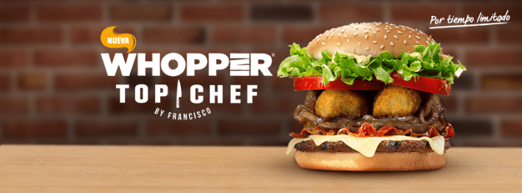 Prueba la nueva TOPCHEF de burger king el salvador