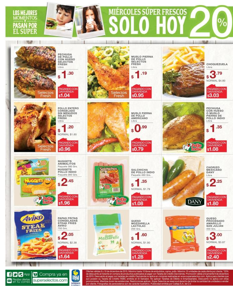 Super Selectos ofertas de miercoles - 09dic15