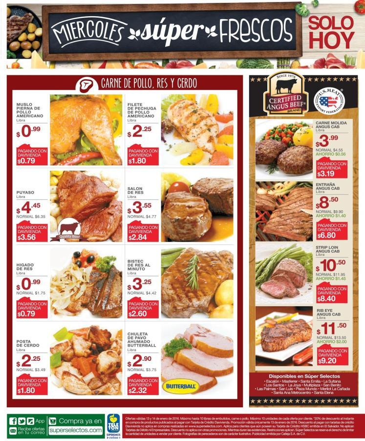 Delicias frescas del super selectos ahora miercoles - 13ene16