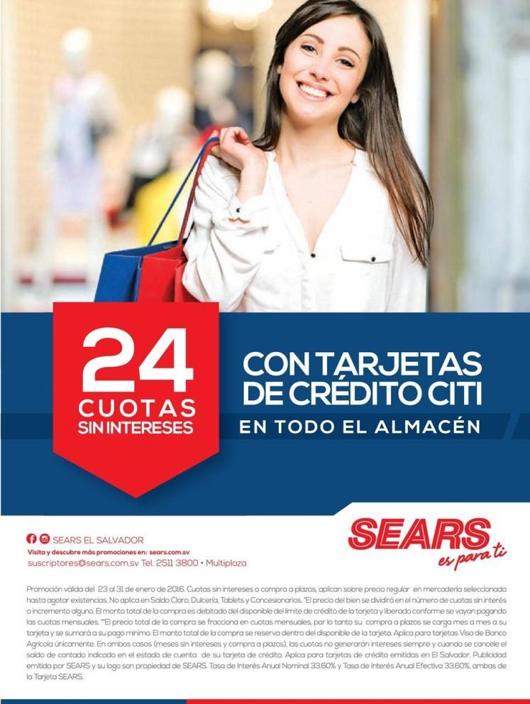 Promociones en SEARS fin de mes enero 2016