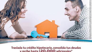 Recibe hasta 20 mil dolars adicionales con tu credito hipotecario