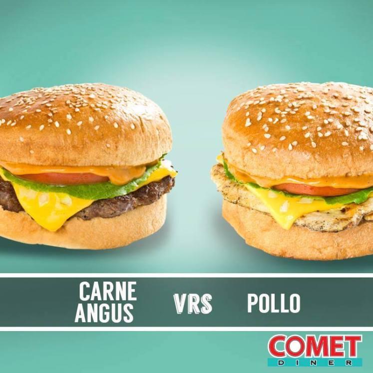 COMET diner contest CARNES ANGUS vrs POLLO