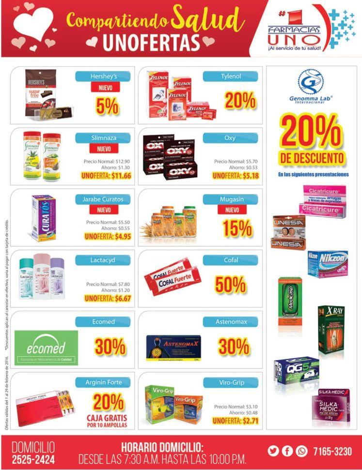 Compartiendo salud y ofertas en Febrero 2015 descuentos Farmacias UNO