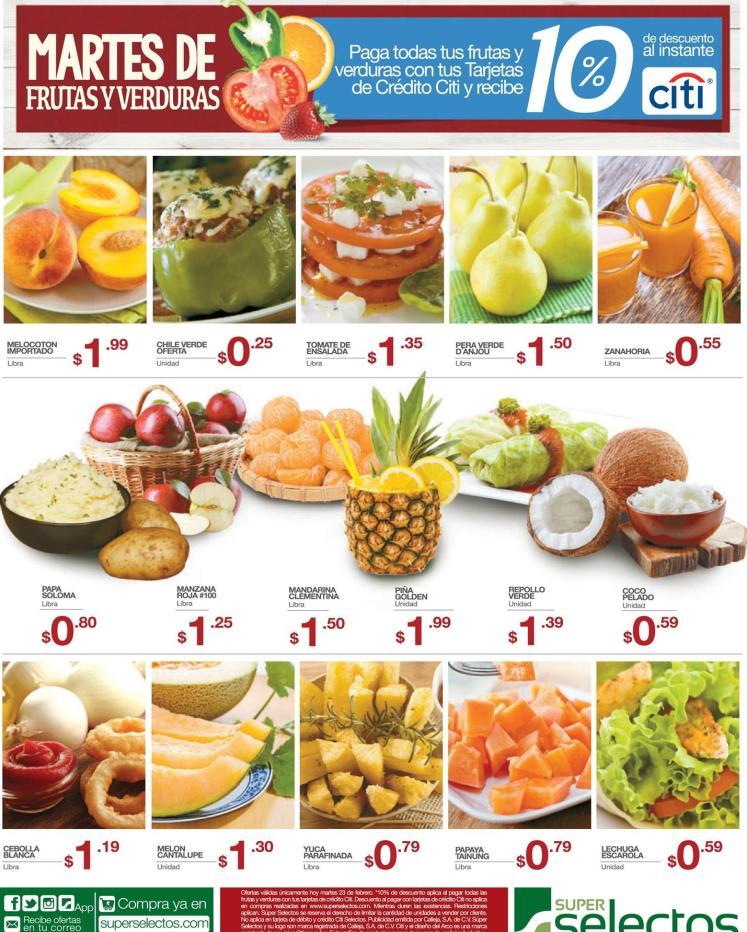 Compras tus frutas y verduras con descuento