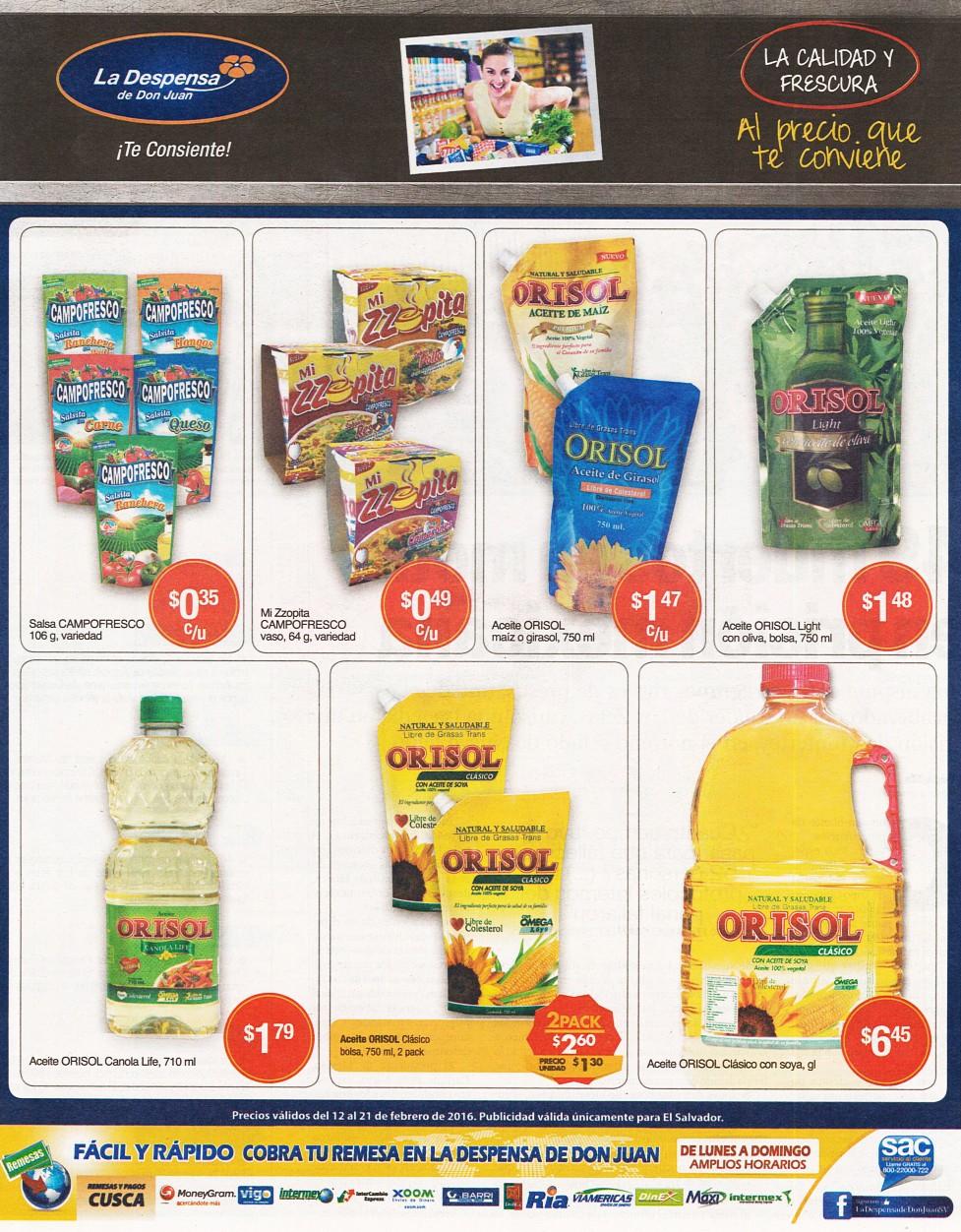 Festival de aceite ORISOL ofertas la despensa de don juan - 12feb16