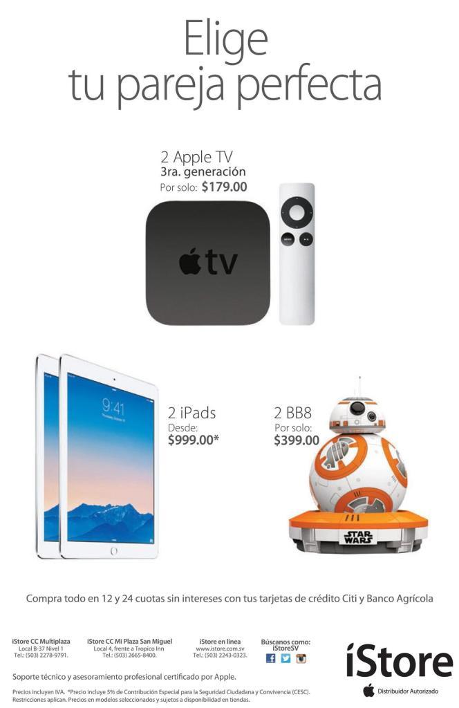 Pareja perfecta en tu iStore el salvador promociones ipad apple tv