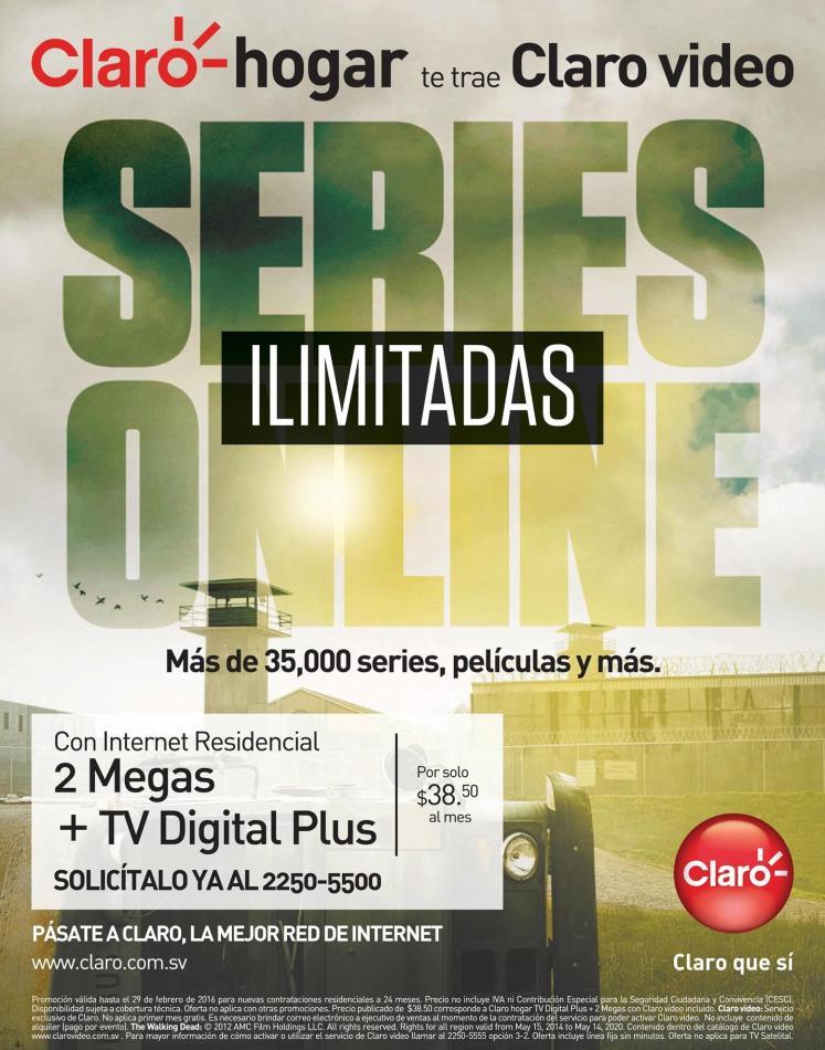 TV digital plus video streaming services CLARO el salvador