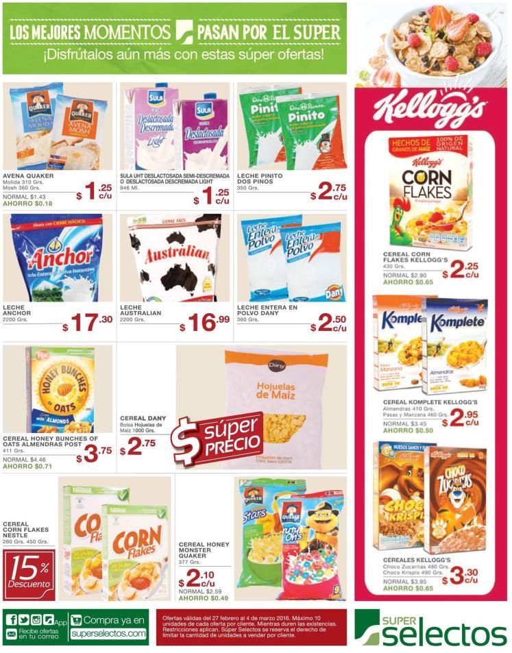 cerreales simple dulces sabores avena granola PRECIO BAJO - 27feb16